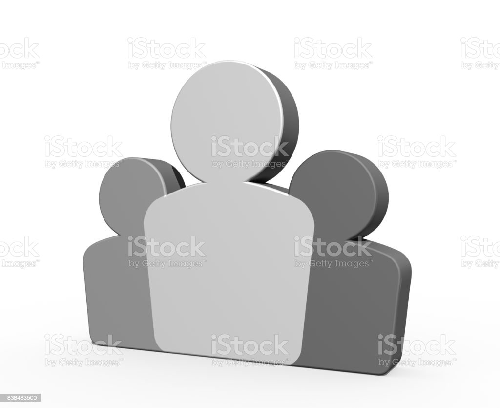 3D People icon stock photo