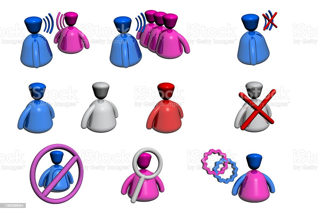 People Icons -  Chat / Forum Perspective View royalty-free stock photo