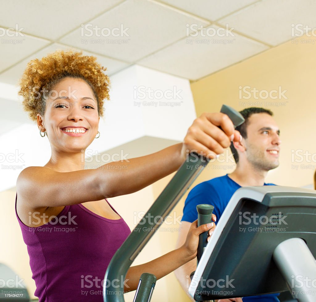 People in a gym. royalty-free stock photo