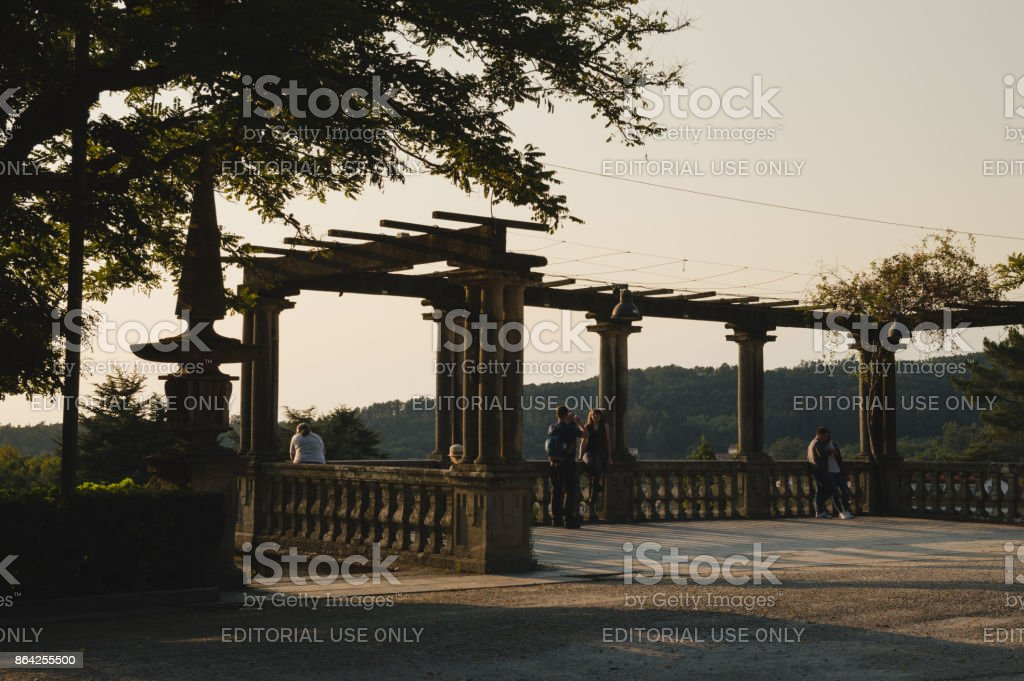 People in a lookout royalty-free stock photo