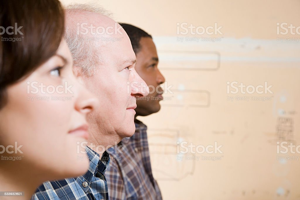 People in a row People in a row 2015 Stock Photo