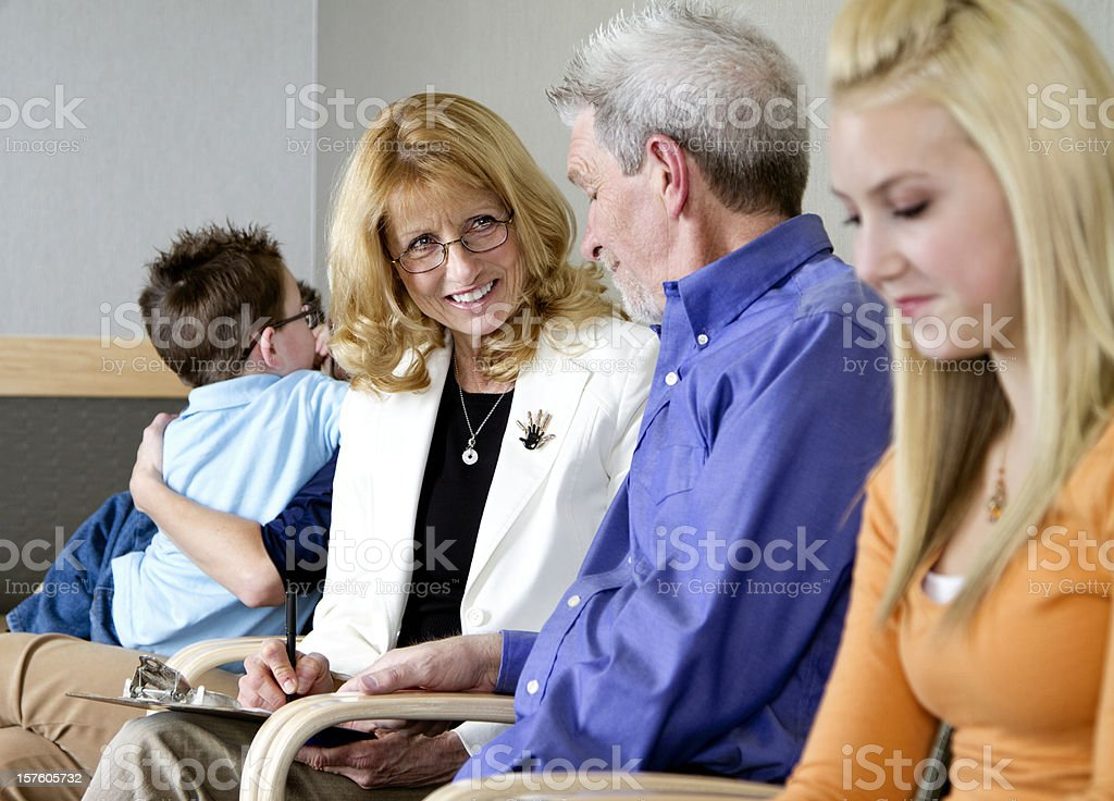 People in a Waiting Room royalty-free stock photo