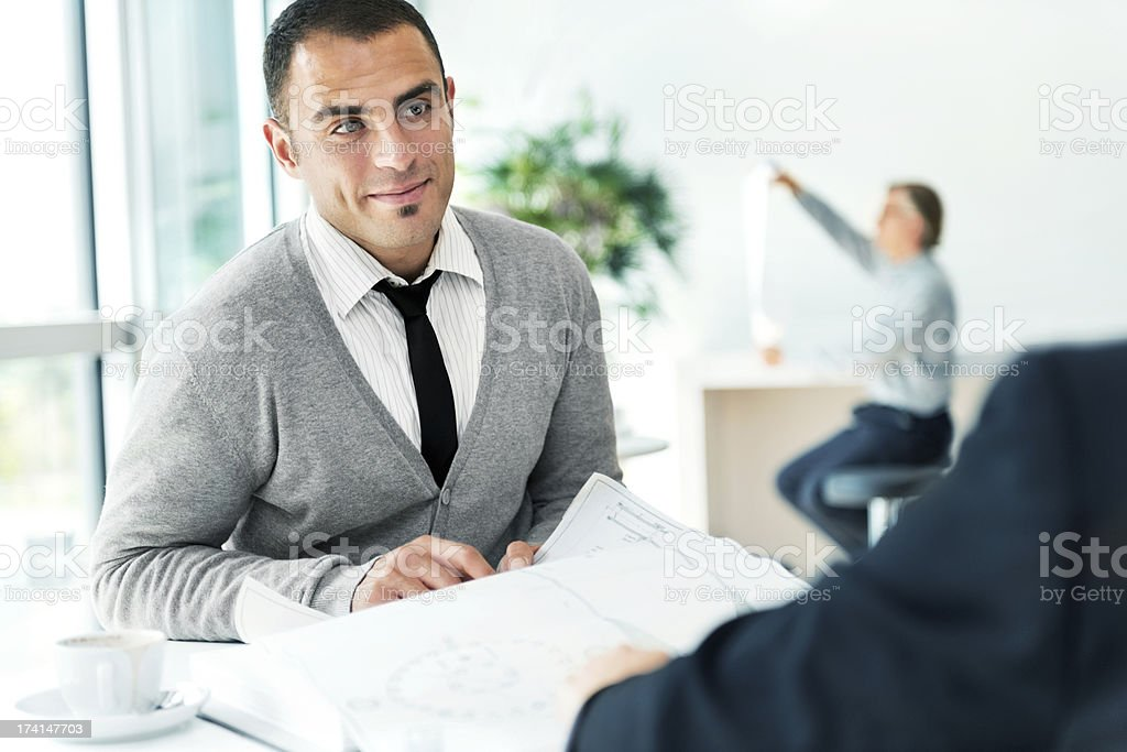 People in an office royalty-free stock photo