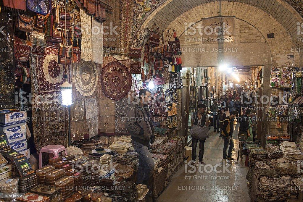 People in bazaar stock photo