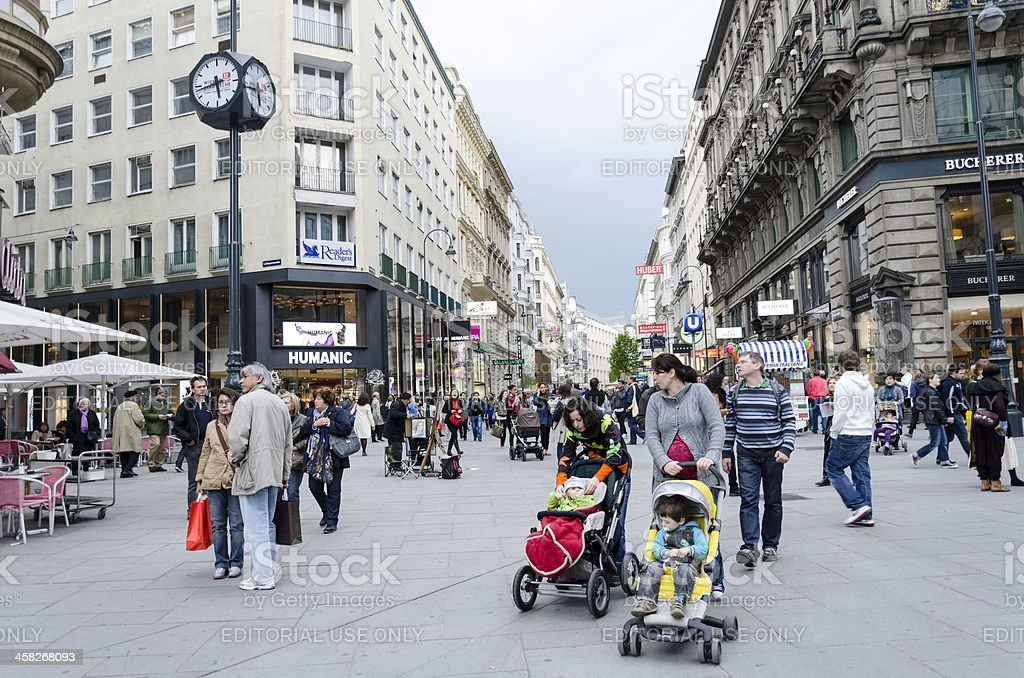 People in Centre of Vienna Austria Europe royalty-free stock photo
