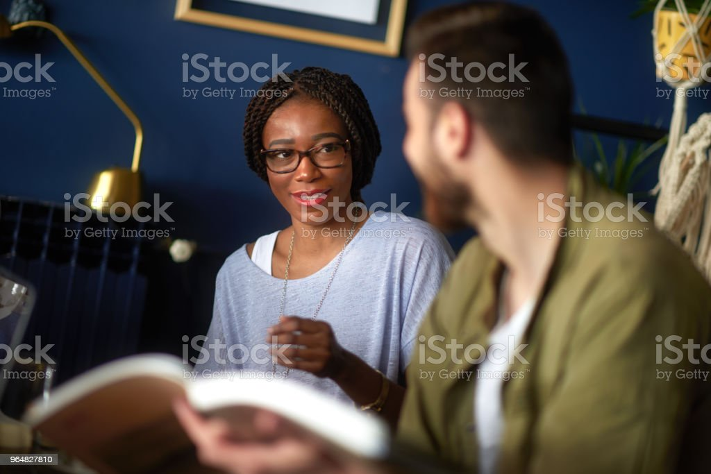 People in coffee shop royalty-free stock photo