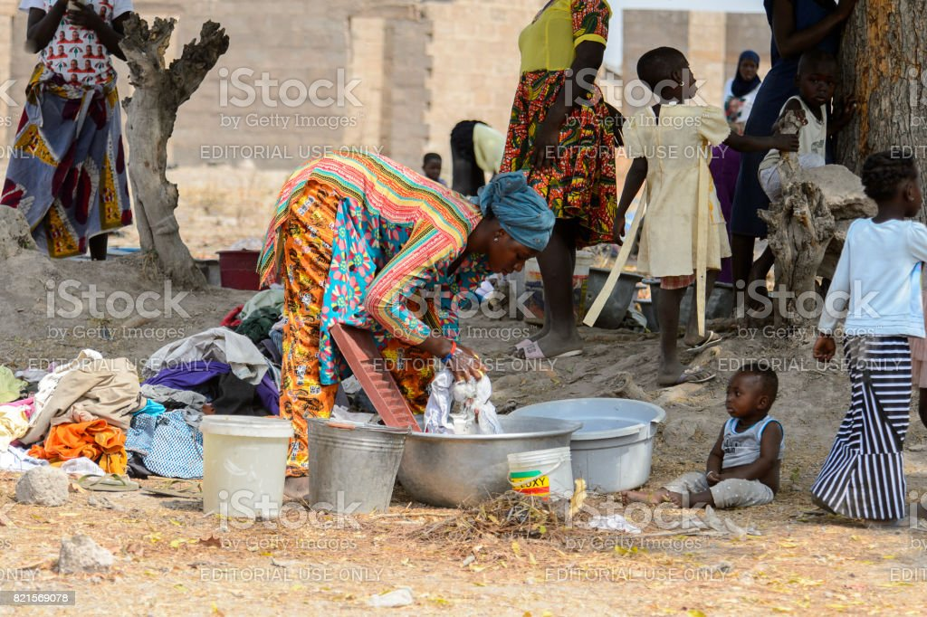 People in Ghana, Africa stock photo