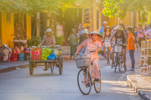 People in Hoi An streets