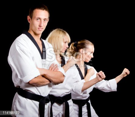 istock People in kimono make  martial arts exercise 114165172