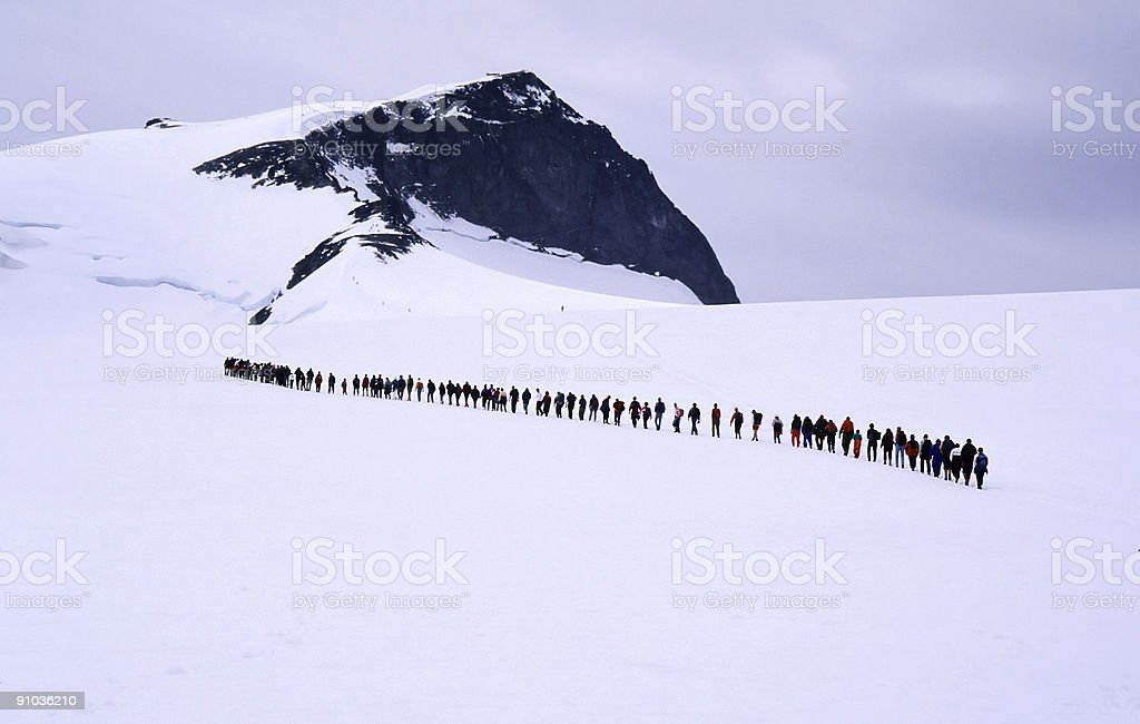 People in line stock photo