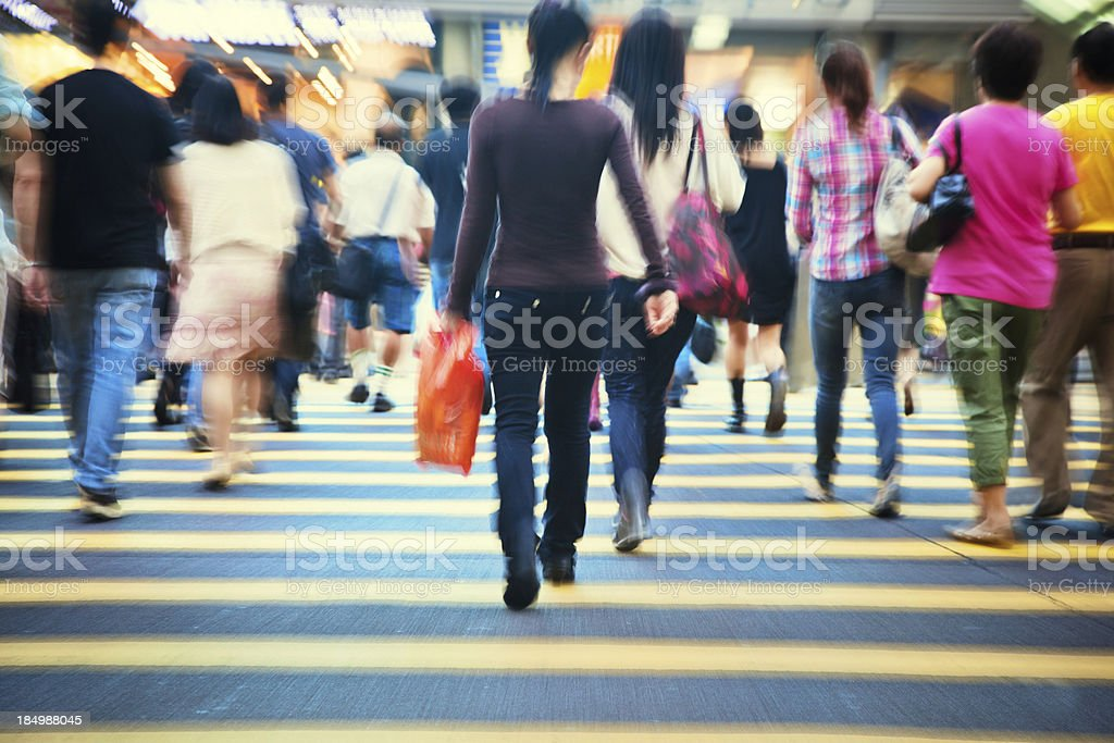 people in motion royalty-free stock photo