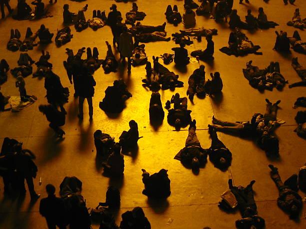 People in Museum: Tate Modern stock photo
