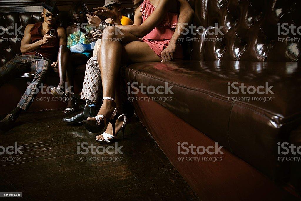 People in nightclub stock photo