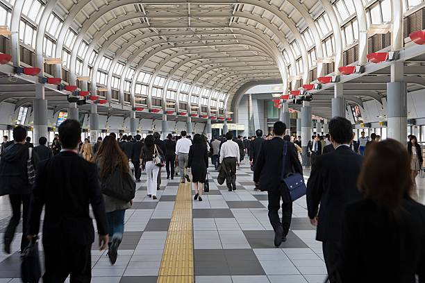 People in railway station  railroad station stock pictures, royalty-free photos & images