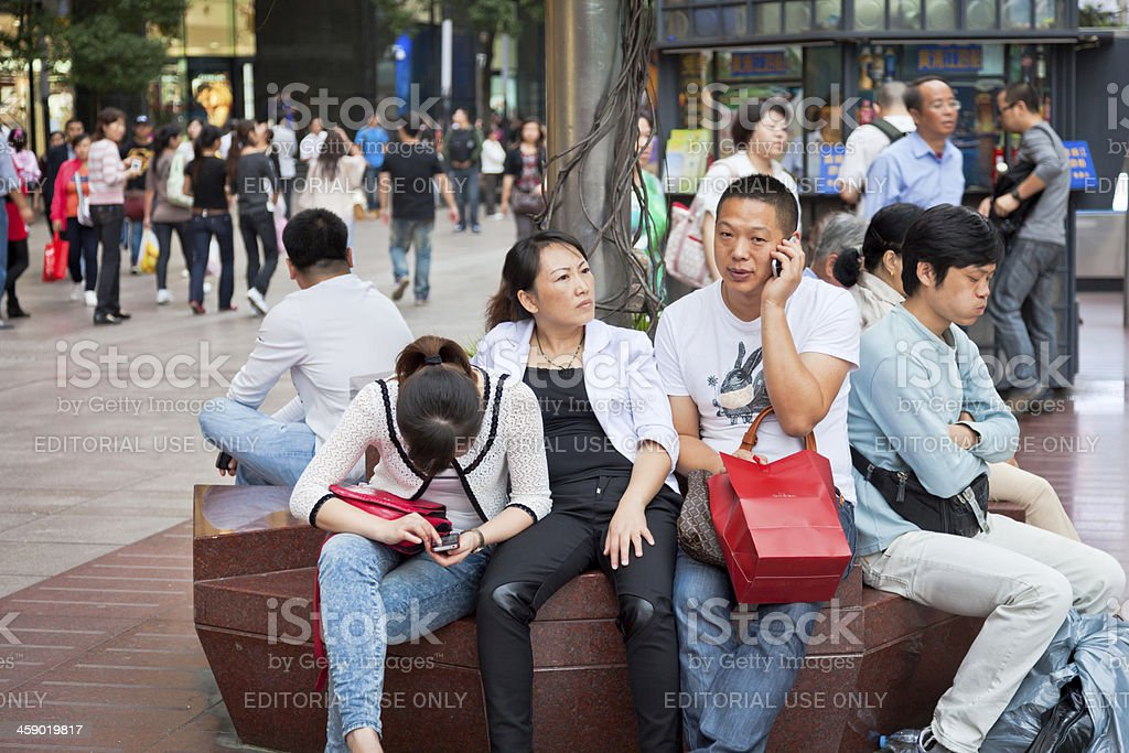 People in Shanghai royalty-free stock photo