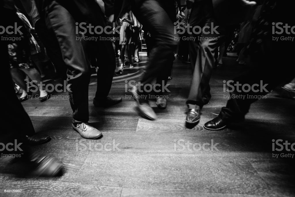 people in suit dancing on dance floor stock photo