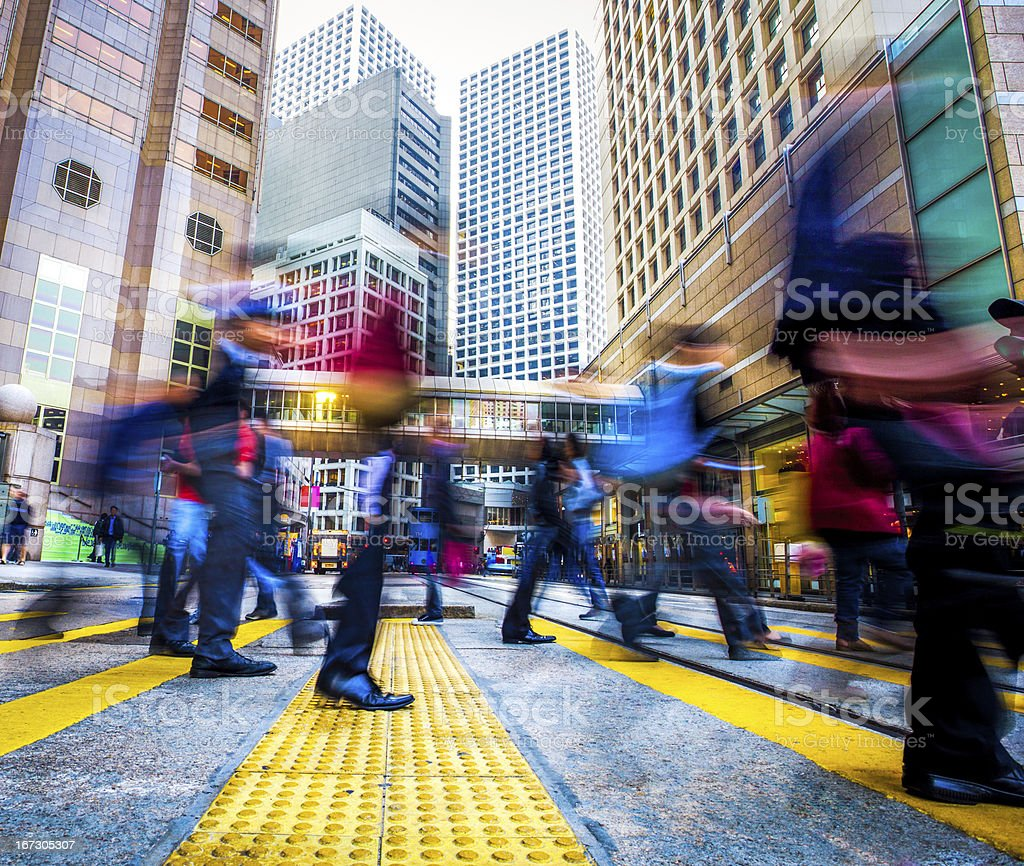 People in the city royalty-free stock photo