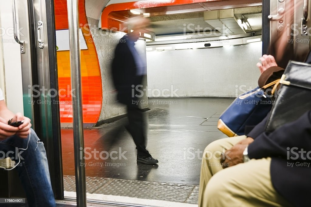 People in the metro royalty-free stock photo