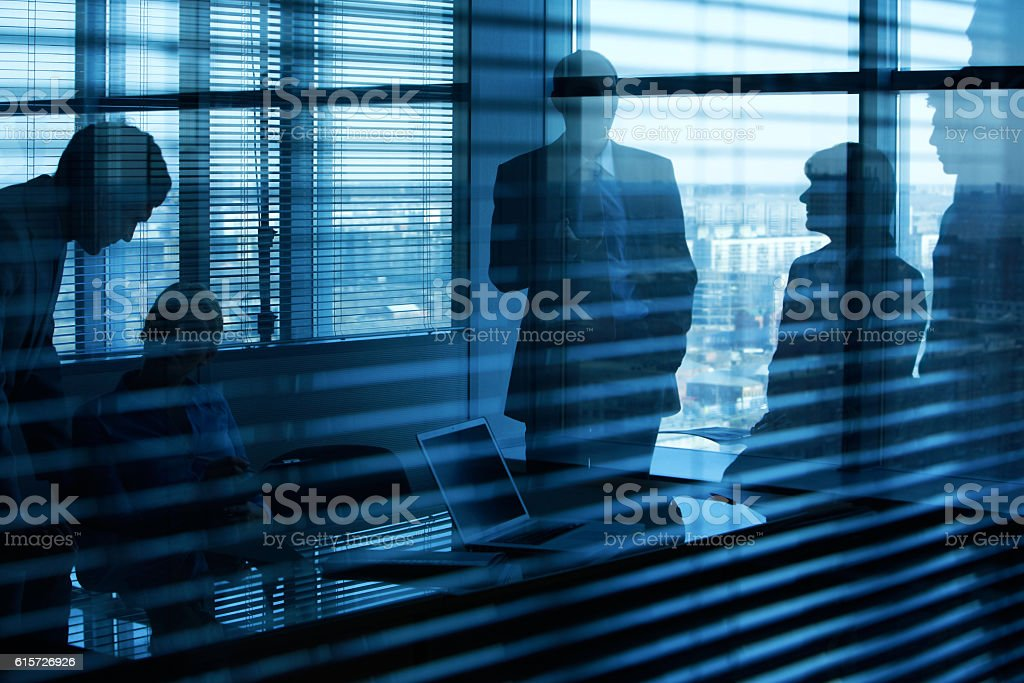 People in the office stock photo