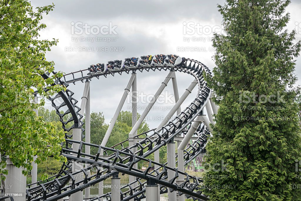 people in the rollarcoaster royalty-free stock photo