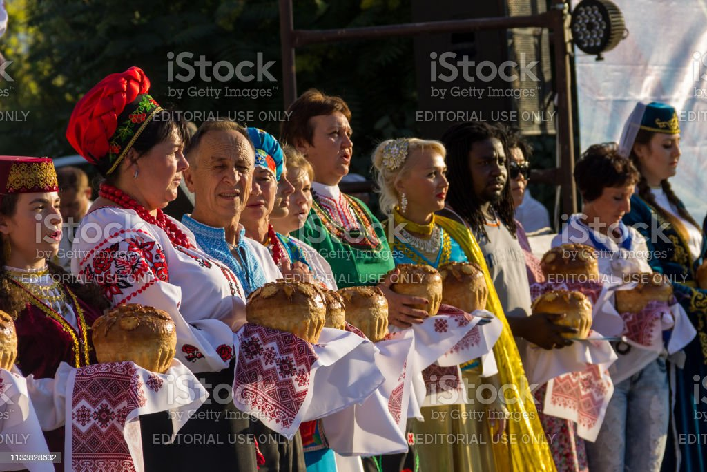 People in traditional clothing during Festival of National Cultures...