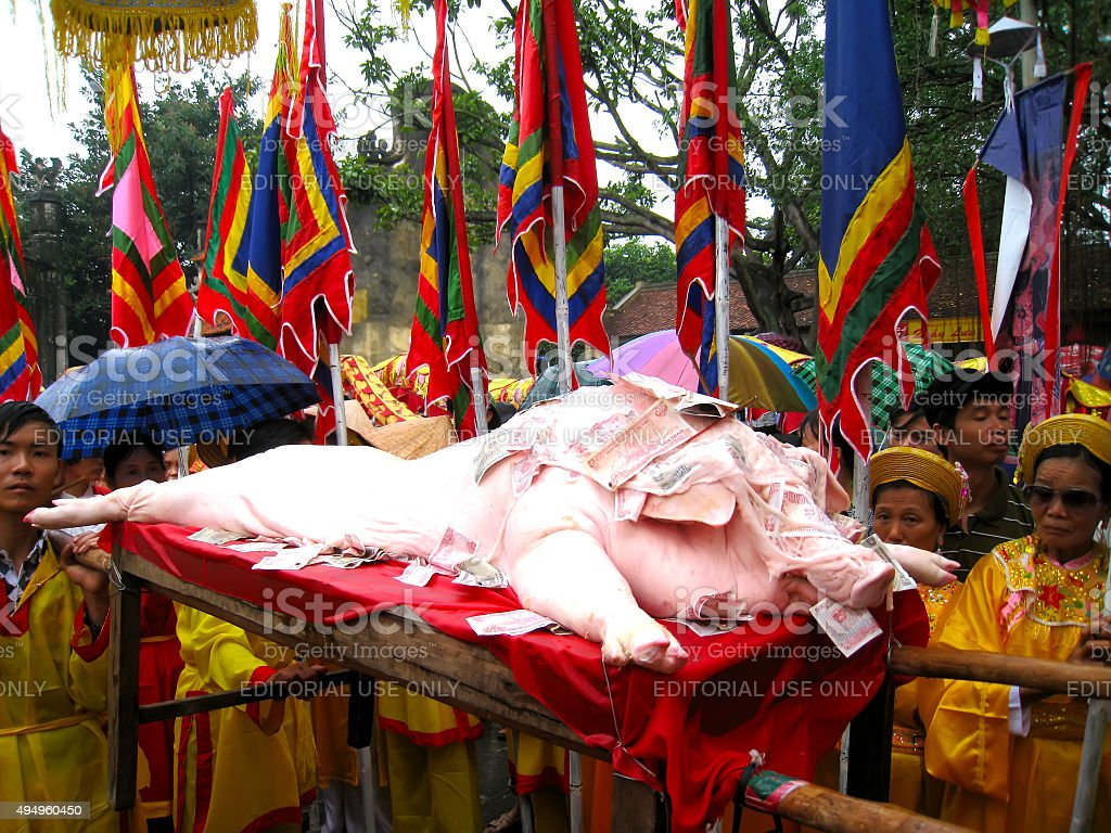 people in traditional costume palanquin procession of h stock photo