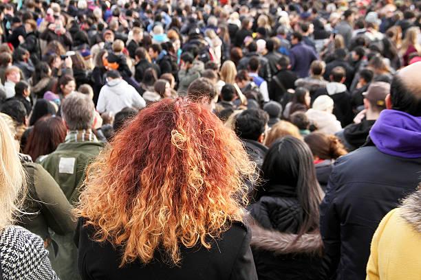Personnes à Trafalgar Square durant le nouvel an chinois, Londres - Photo