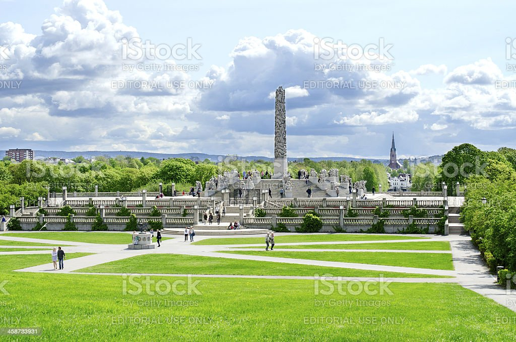 People in Vigeland park Oslo Norway stock photo