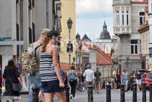 863454090istockphoto People in Vilnius Old Town 1022118840