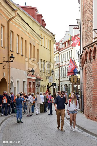 863454090istockphoto People in Vilnius Old Town 1030167308