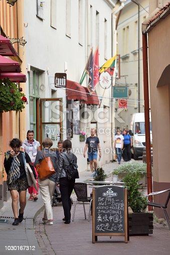 863454090istockphoto People in Vilnius Old Town 1030167312