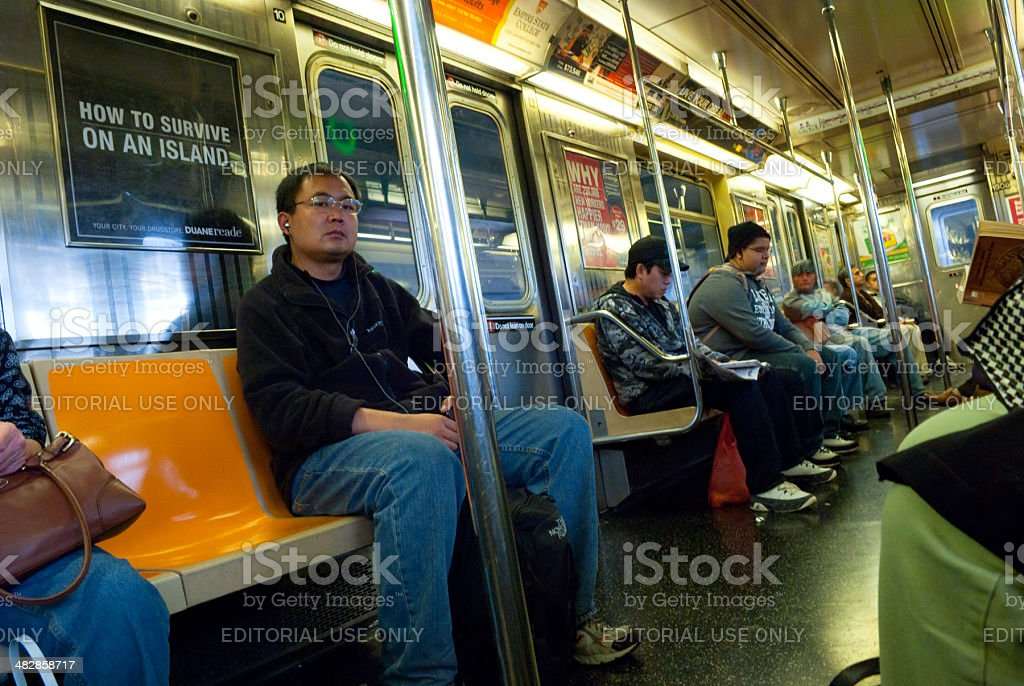People Inside A New York Subway Train Stock Photo & More ...