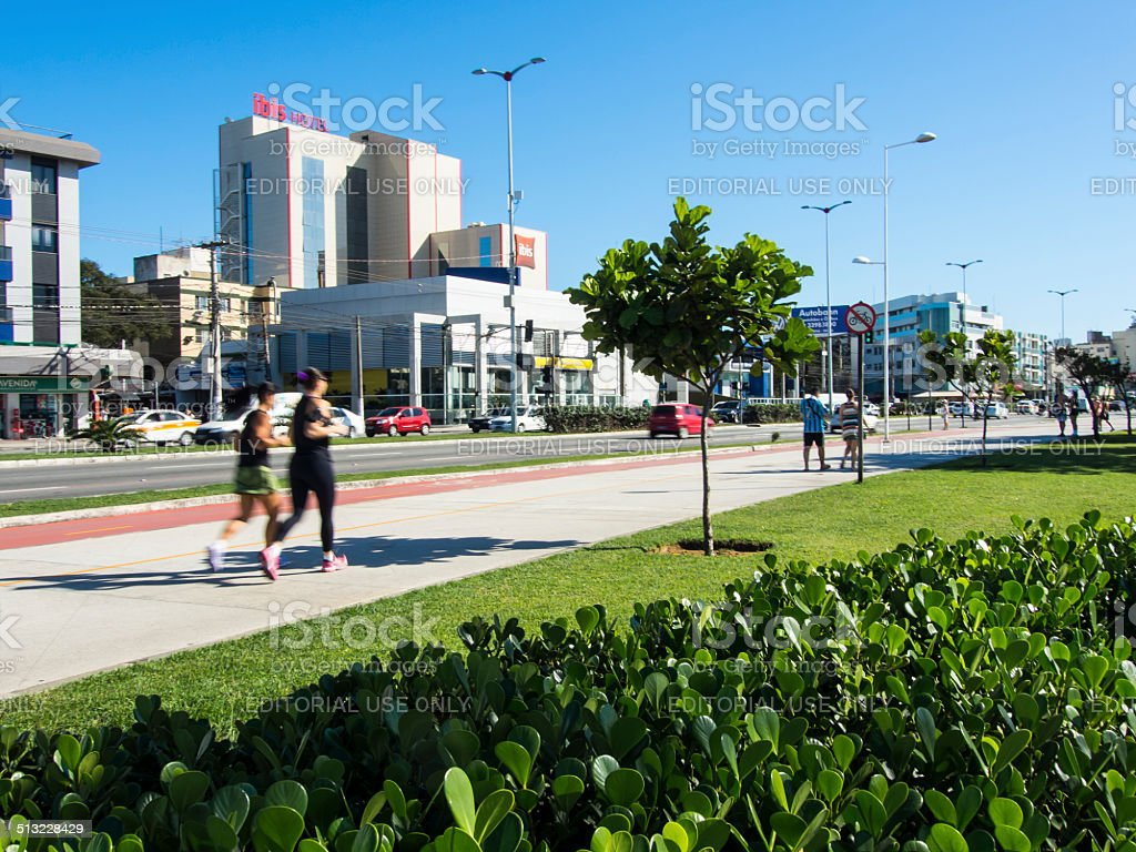 People Jogging stock photo
