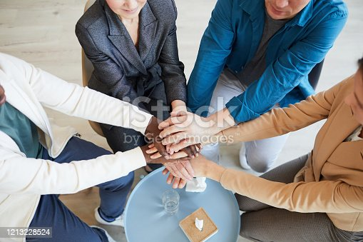 847516586 istock photo People Joining Hands in Support Group 1213228524