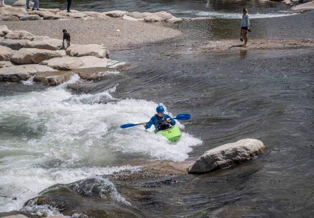 People Kayaking in Reno stock photo