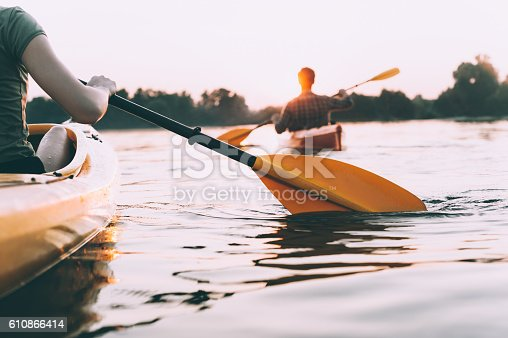 istock People kayaking. 610866414