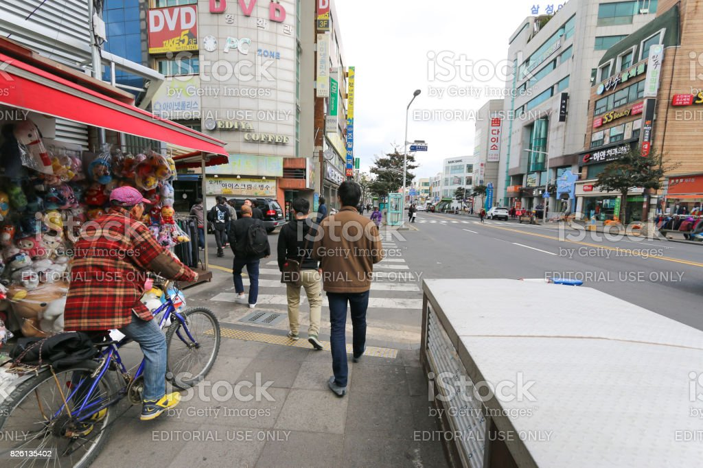 People life style on Jeju Island, South Korea stock photo
