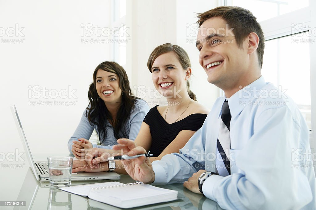 People listening royalty-free stock photo