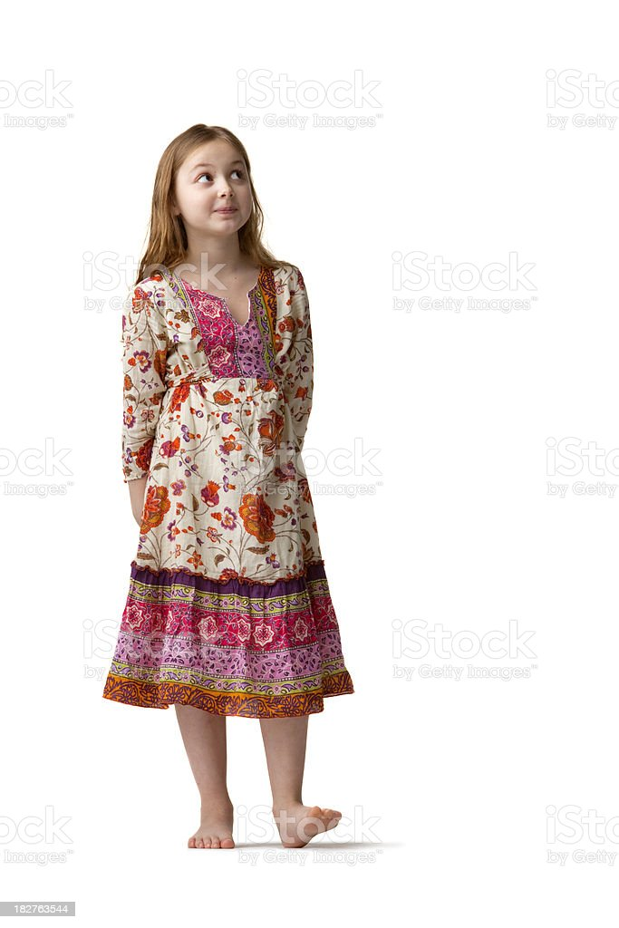 People: Little Girl(2) Looking Up royalty-free stock photo