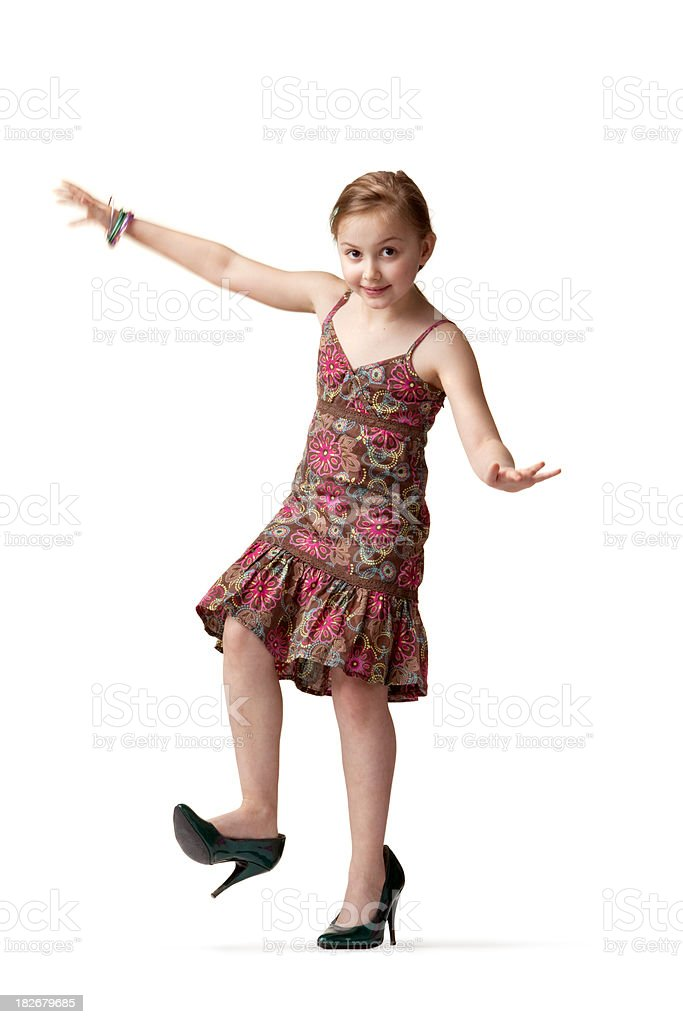 a45cf4e4dcc People Little Girl On High Heels Stock Photo - Download Image Now ...