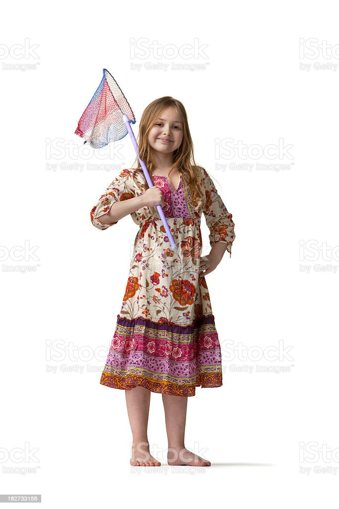 People: Little Girl (2) with Net stock photo