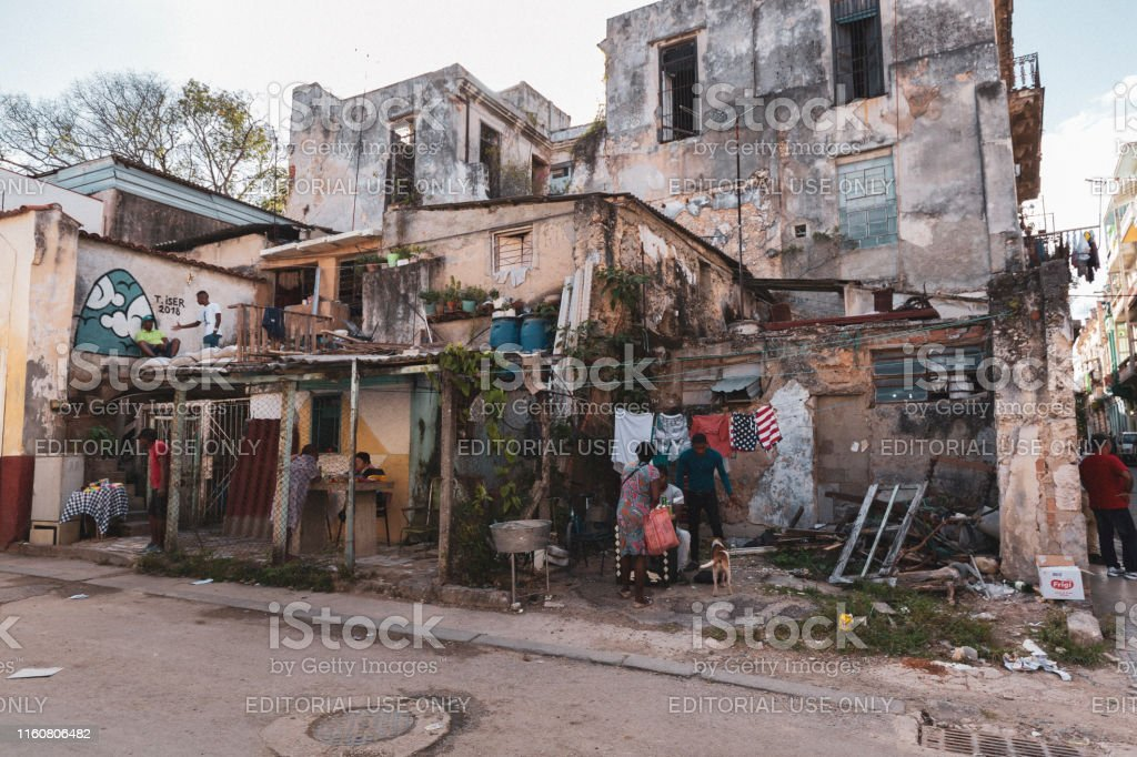 People Living in Makeshift Housing in Cuba - Royalty-free Abandoned Stock Photo