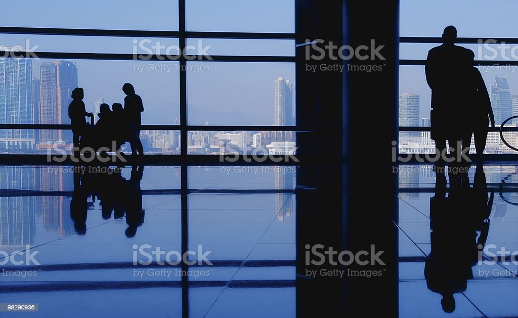 People looking at modern city royalty-free stock photo