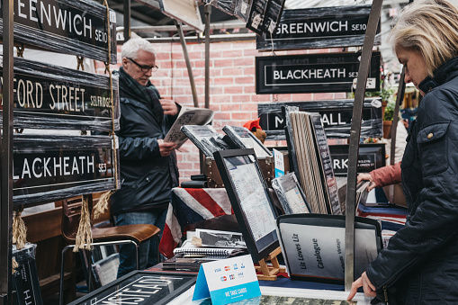 People Looking At Posters And Home Decor On Sale At A Stall In Greenwich Market London Uk Stock Photo Download Image Now Istock,Home Design Checklist Template
