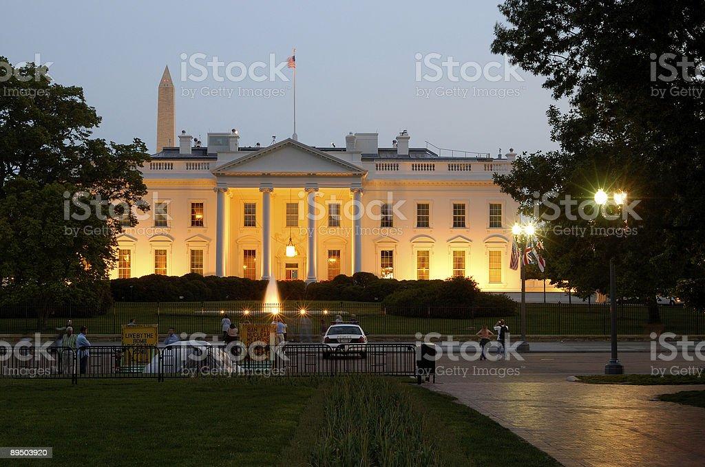 Personnes à la recherche de la Maison Blanche photo libre de droits