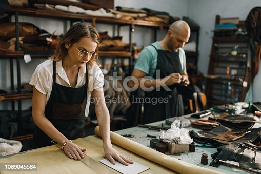 People making textile products in the workshop