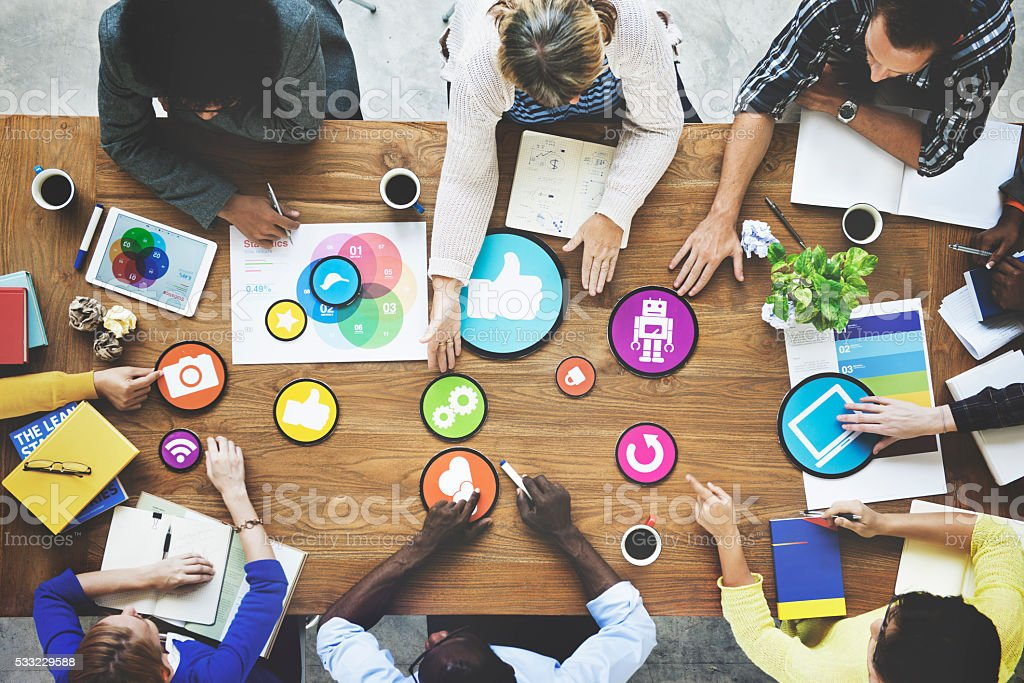 People Meeting Connection Social Networking Communication Concep royalty-free stock photo