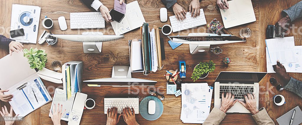 People Meeting Corporate Working Technology Startup Concept stock photo