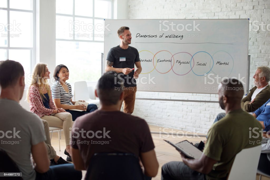 People Meeting Seminar Office Concept stock photo