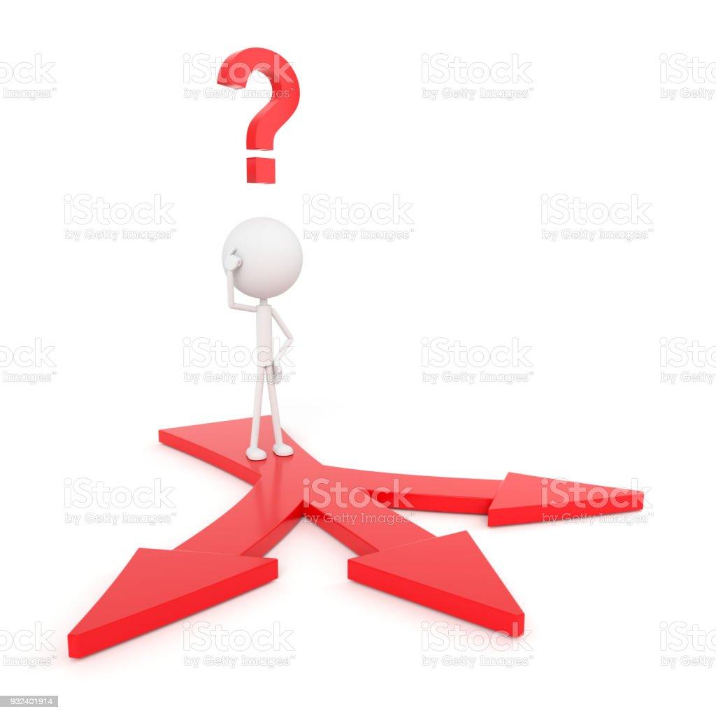 Modelo de personas con muchos concepto de opciones. Render 3D. - foto de stock